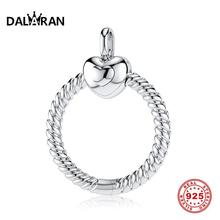 DALARAN 925 Sterling Silver Beads Charm Moments O Pendant Fit Charms Pandora Original Silver 925 Necklace DIY Jewelry Making geoki 925 sterling silver treasure lock charms fit original pandora bracelet lucky pendant necklace beads jewelry making women