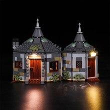 Kit de luz led para a cabana de harry hagrid: resgate de buckbeak 75947 blocos de construção modelo (para não incluir o conjunto de lego)