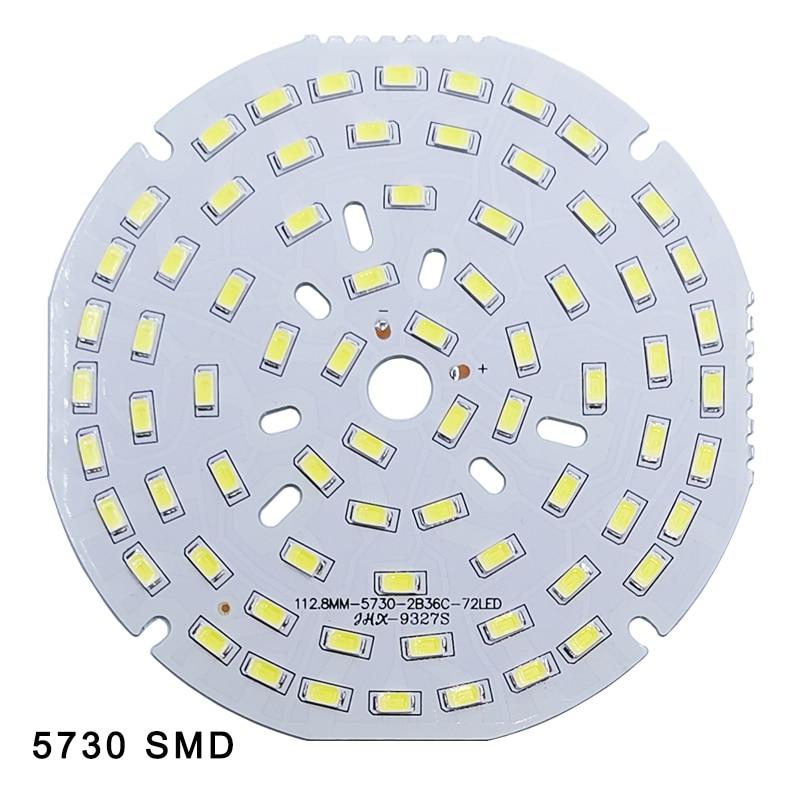 5pcs/lot LED SMD Chip 3W 7W 12W 18W 24W 36W 5730 Brightness Light Board For Led Bulb Led Downlight