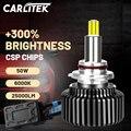 Carlitek 25000LM H7 светодиодный фар 360 градусов со светодиодными кристаллами Высокое яркое 9012 HIR2 H1 H11 H4 HB3 HB4 H8 H9 9005 9006 высокого луча ближнего и дальне...