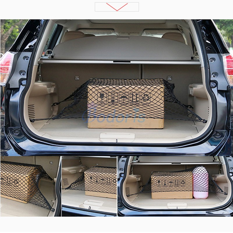 Rear Truck Storage Bag Luggage Nets Hook Organizer Dumpster Net For <font><b>Toyota</b></font> Land Cruiser 150 <font><b>Prado</b></font> <font><b>FJ120</b></font> FJ150 <font><b>Accessories</b></font> image