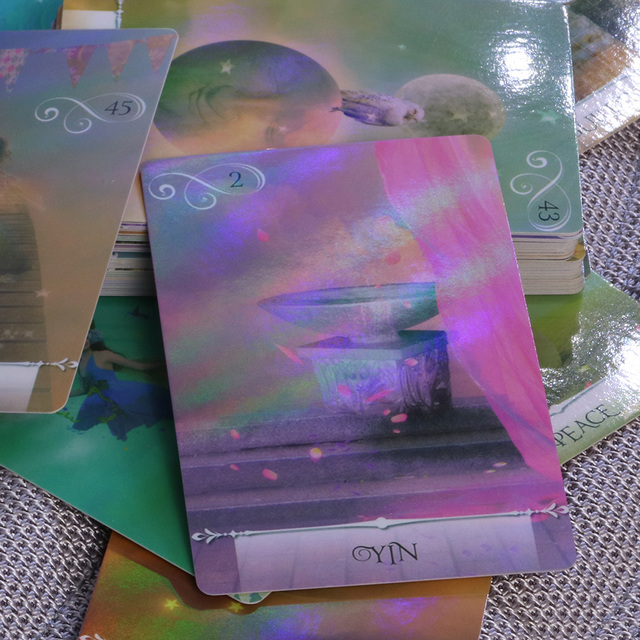 New arrival shine knowledge oracle cards deck, 52 cards, Holographic wisdom tarot cards divination fate for women board games 2