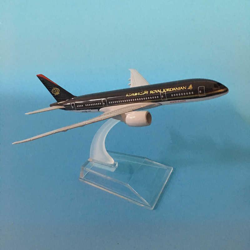 JASON TUTU 16cm ROYAL JORDANIAN Aircraft Model Diecast Metal 1:400 Plane Model Airplane Model Airplanes Plane Toy Gift