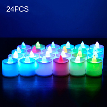 24 Pcs New LED Tea Lights Candles 7 Color Changing Tealight Candle Decor