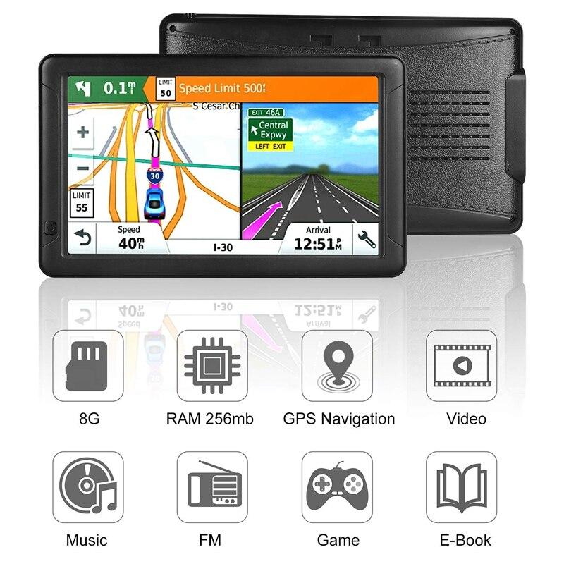 GPS Navigation für Auto-9 Zoll HD Auto GPS Navigator Kapazitive Großen Touchscreen, echt Stimme Stimme Drehen Anzeige Erinnerung
