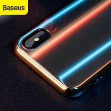 Baseus 4D זכוכית מקרה עבור iphone X כיסוי אחורי מגן Utral thin9H מזג זכוכית מקרה עבור iphoneX זכוכית מגן מקרה