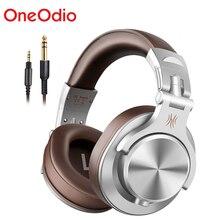 Oneodio A71 מקצועי DJ אוזניות נייד מתכוונן Wired אוזניות מוסיקה נעילת נתח אוזניות עבור הקלטת צג