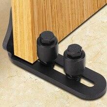Углеродистая сталь Регулируемая настенная подставка ролик для двери сарая напольная направляющая для оборудования двери сарая