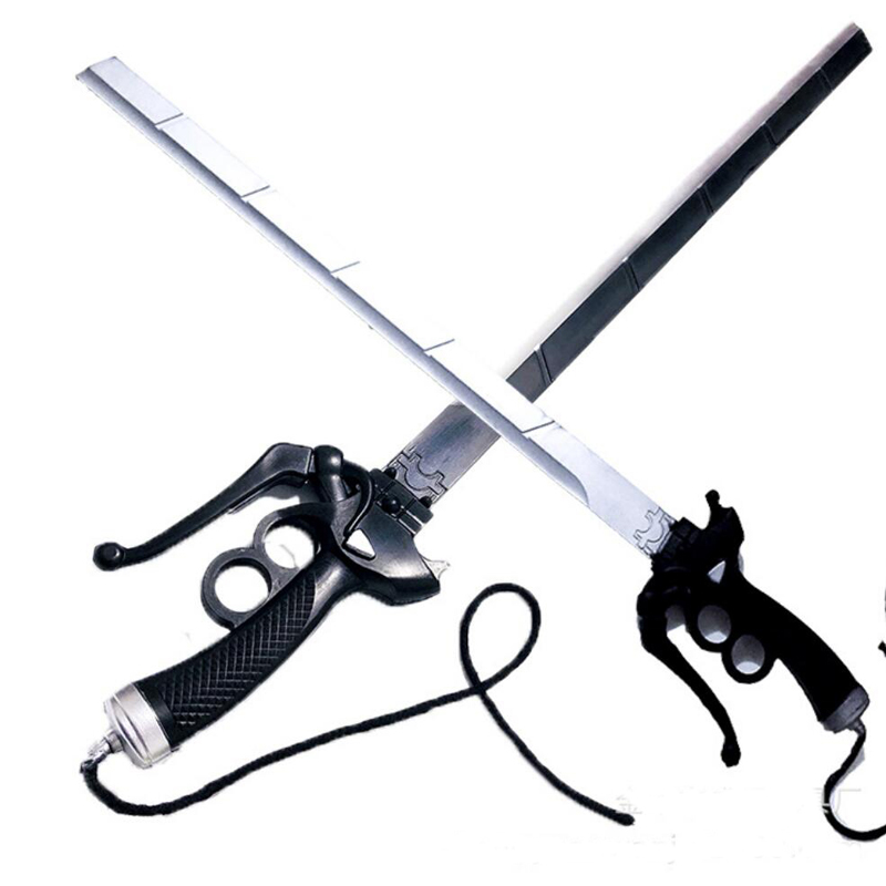 Attack On Titan Mikasa Ackerman sword cosplay RivaMika LeviMika sword Movie simulation weapon Prop title=