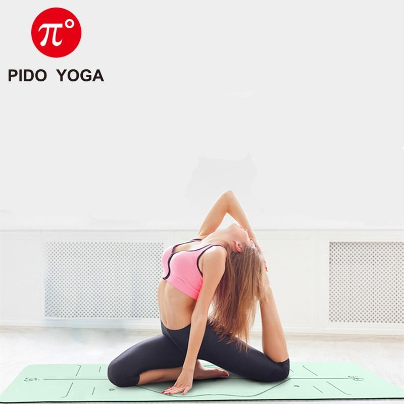 PIDO YOGA Double Color Yoga Mat with Position Line Thick Yoga Pilates Mats Gymnastics Fitness Mat 1