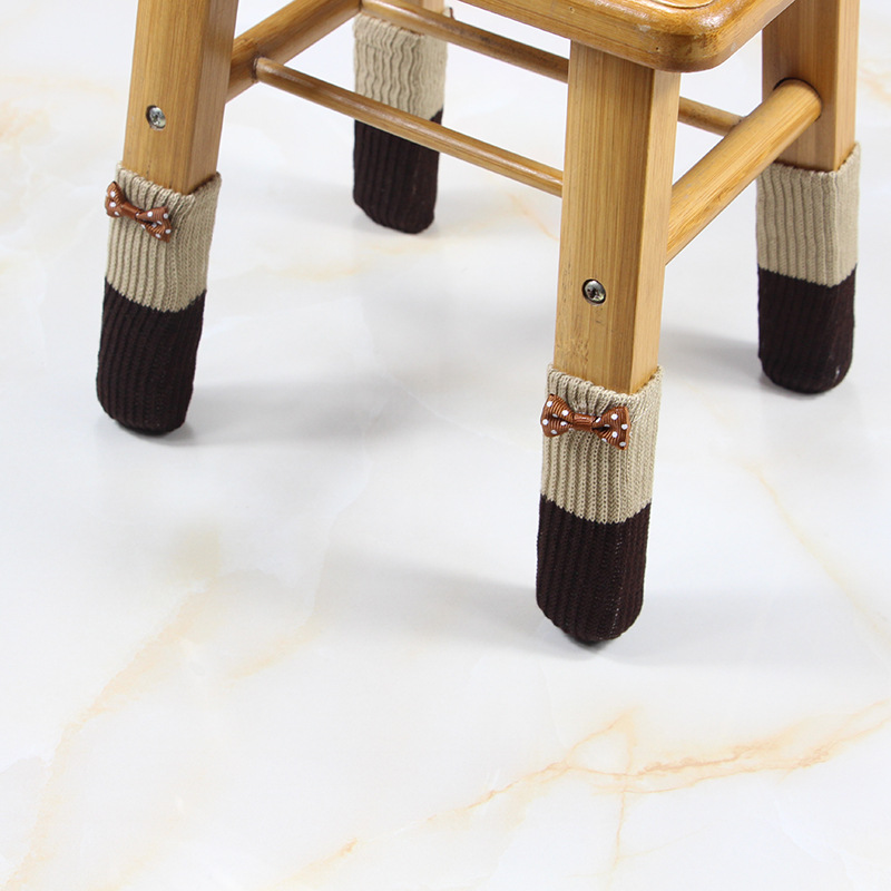 Lovely Chair Leg Cover Knitting Table Feet Pad Thickened Furniture Leg Covers Resistant Leg Sock For Chair 4pcs Floor Protection