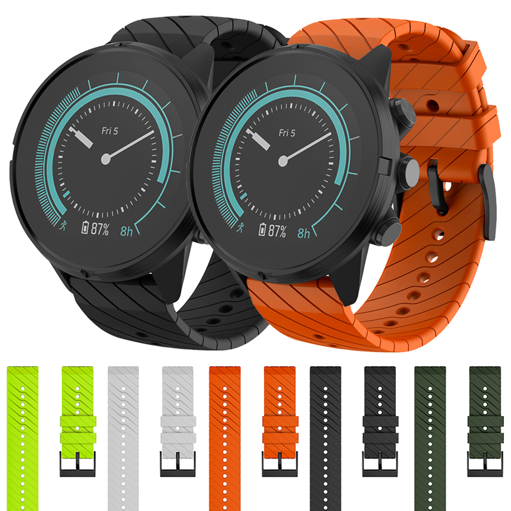 Quick Release Replacement Watchband Lightning Pattern Silicone Strap 24mm Watch Band Strap For SUUNTO Songtuo Sparta Wriststrap|Smart Accessories| |  - title=