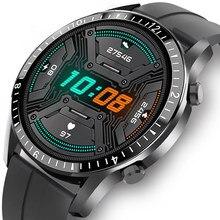 Gejian 2021 novo relógio inteligente masculino tela de toque completa esporte fitness relógio ip67 à prova dip67 água bluetooth para android ios smartwatch dos homens