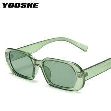 YOOSKE – lunettes de soleil ovales pour hommes et femmes, Vintage, vert, rouge, Style de voyage, UV400