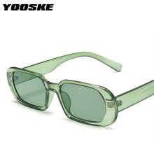 YOOSKE marka małe okulary przeciwsłoneczne kobiety moda owalne okulary mężczyźni Vintage zielone czerwone okulary damskie podróżowanie styl UV400 gogle tanie tanio CN (pochodzenie) WOMEN Dla osób dorosłych Z plastiku i tytanu MIRROR 34mm Z żywicy TYJ1478 51mm 4950