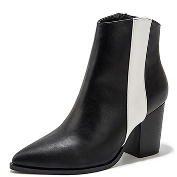 2020 Fashion 8CM Block Heel Women Ankle Boots Cowgirl Mixed Colors Ladies Booties Size 36-43