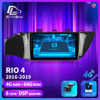 prelingcar For KIA RIO 4 2016 2019 years android 9.0 Car GPS Radio stereo Multimedia no 2 din 4G monitor Video Player Navigation
