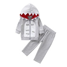 Лидер продаж, зимний теплый комплект, комплекты для детей свитер с капюшоном для мальчиков, брючный костюм комплект молнии с буквенным принтом для маленьких мальчиков