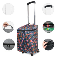 New Home Grocery Shopping Cart Aluminum Alloy Trolley cart on Wheels shopping bags large Pull Cart Market elderly Stairs Trailer