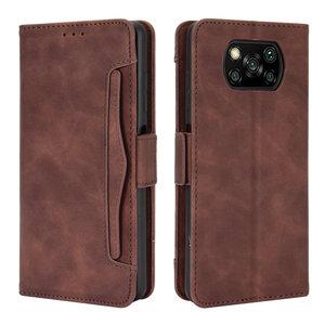 Image 1 - ل Xiaomi بوكو X3 برو فليب حالة بوكو F3 F 3 X 3X NFC جلدية بطاقة فتحة القابلة للإزالة محفظة غطاء فوندا بوكو F2 حالة PocoPhone M3