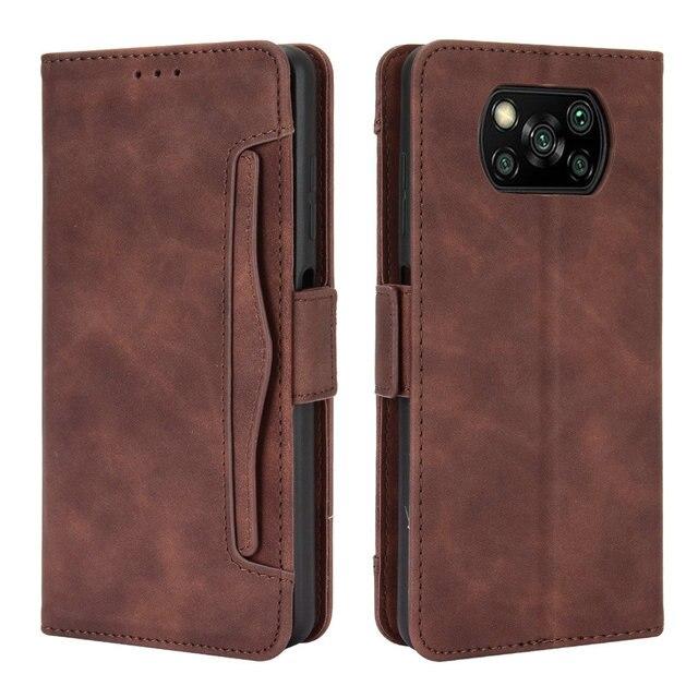 ل Xiaomi بوكو X3 برو فليب حالة بوكو F3 F 3 X 3X NFC جلدية بطاقة فتحة القابلة للإزالة محفظة غطاء فوندا بوكو F2 حالة PocoPhone M3