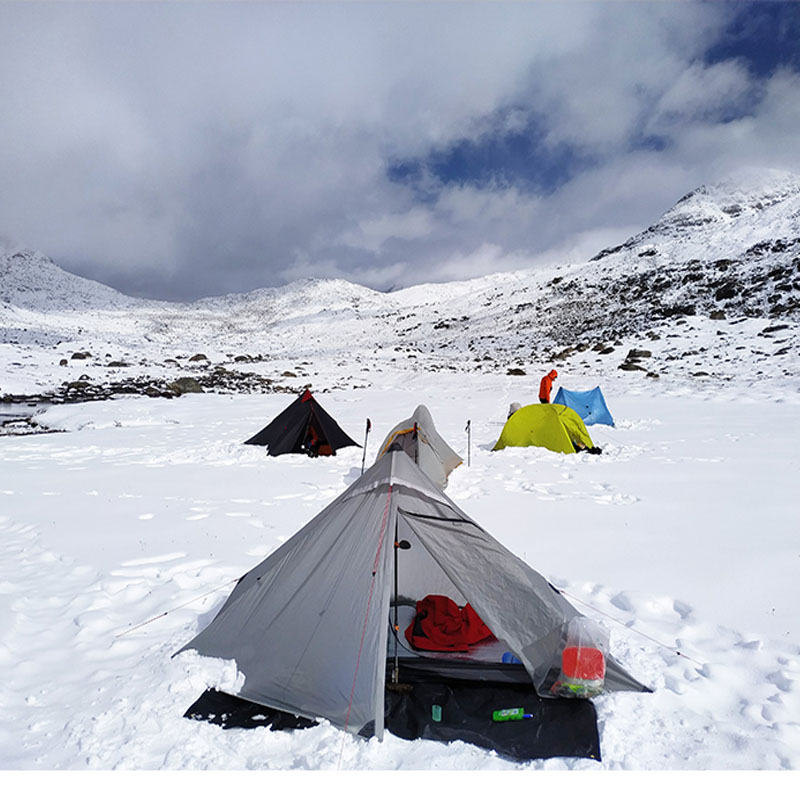 pessoa ultraleve barraca de acampamento 3 temporada 20d silnailon sem haste tenda 03