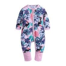 Мягкая мультяшная верхняя одежда для младенцев хлопковая на