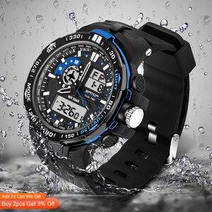 Image 2 - 三田軍事メンズ腕時計防水スポーツ腕時計メンズ多機能 S ショック時計男性 horloges マンレロジオ Masculino 737