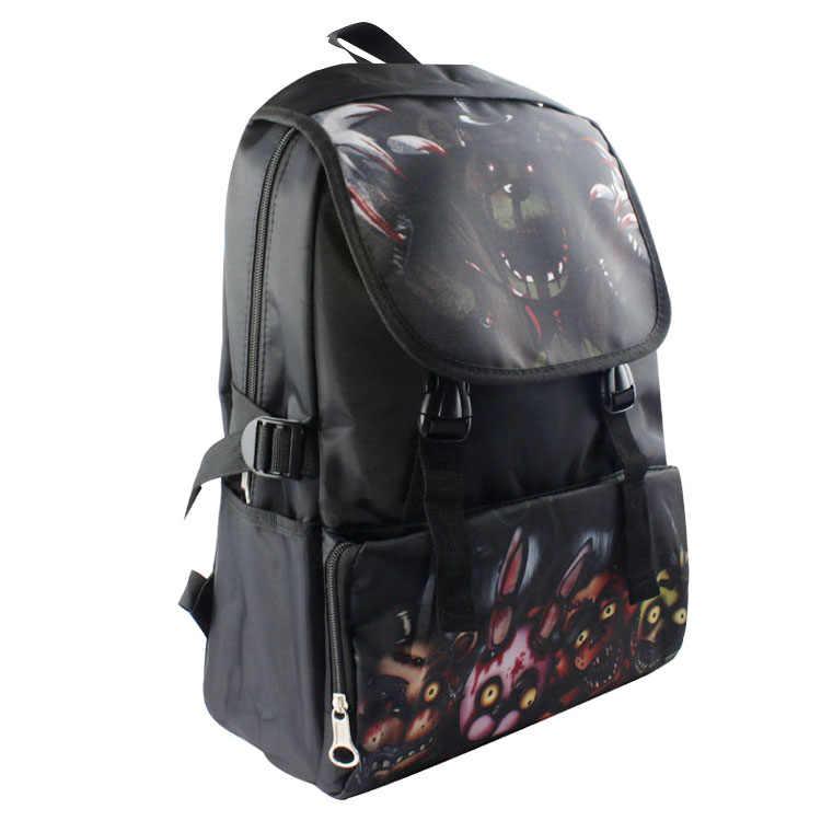 Five Nights At Freddy/'s Backpack Chica Foxy Freddy FNAF School Shoulder Bag HOT