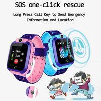 Smartwatch infantil q12  relógio inteligente à prova d' água para bebês  crianças  antiperda  sos  chamada de localização  cartão sim 2g bate de voz do presente