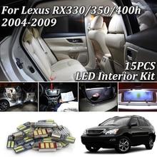 15X Премиум Canbus Xenon Белый светодиодный фонарь внутренняя посылка для 2004-2009 Lexus RX330 RX350 RX400h светодиодный комплект для внутреннего освещения+ инструмент