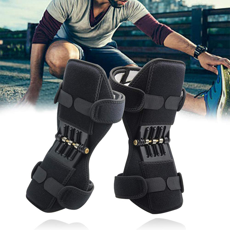 H64522e43fc63490b8545a27e55eb98c7F - Knee Boost Joint Support Knee Pads Knee Patella Strap Power Lifts Spring