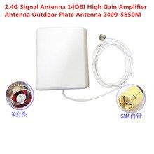 2.4G Antena De Sinal 14DBI Placa Amplificador De Alto Ganho Da Antena Ao Ar Livre Antena 2400 5850M