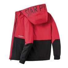 140kg Can Wear Autumn Men Sport Jacket Letter Printed Zip Up Hoodie Coat Sweatshirt Casual Jogger Running Workout Jacket Outwear недорого