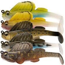Isca de pesca macia isca macia lead jig sono escuro swimbaits suave isca de pesca pique baixo shad para poleiro de pesca