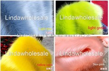 Qualidade pilha 3-3.5cm de pele de raposa de pelúcia, pano de feltro, tecido de pele falsa, materiais de decoração de tapete, 160cm x 45cm (meia jarda)/pces