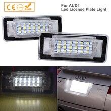 Accesorios para coches Audi TT, 2 uds., para coches Audi TT MK1 8N Roadster 8N9 Coupe 8N3 luz LED de matrícula
