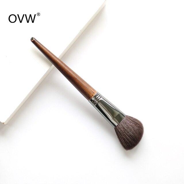 OVW 1Pcs Oblique Head Blush Makeup Brush Face Cheek Contour Cosmetic Powder Foundation Blush Brush Angled Makeup Brush Tools 1