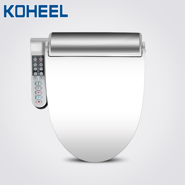 KOHEEL New Intelligent Toilet Seat Gold Silver Side Panel Control Electric Bidet Smart Bidet Heating Dry Massage for Wc