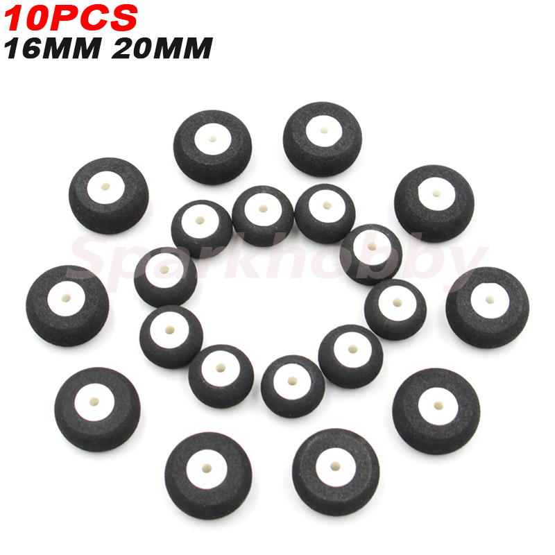 10PCS Sparkhobby High quality Airplane Wheels 16MM 20MM Airplane Sponge Wheels Sponge Tire For RC Airplane Helicopter image