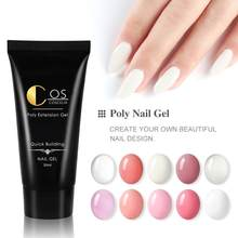 COSCELIA Acryl Poly Extension Gel 30ml UV Quick Builder Extension Kristal UV Gel Tips Enhancement Anti Oplossing(China)
