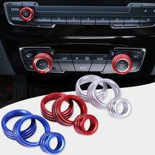 Кнопка управления громкостью звука, круглая декоративная накладка для BMW 1 2 3 3GT 4 Series X1, с автоматической кнопкой