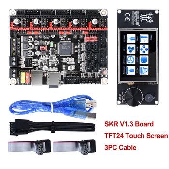 BIGTREETECH SKR V1 3 32-bitowy kontroler drukarka + ekran dotykowy TFT24 + 5pc TMC2208 TMC2209 UART TMC2130 spi mks gen L 3d części tanie i dobre opinie BIQU Płyta główna SKR V1 3 32Bit Board DC12V-DC24V 5A-15A TMC2130 TMC5160 TMC2209 TMC2208 TMC2100 LV8729 DRV8825 A4988