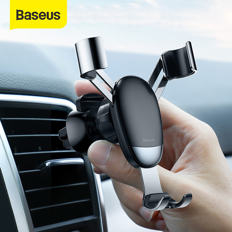 Baseus Mini Gravity Car Phone Holder Air Vent Mount For IPhone X XR Xiaomi Car Smartphone Support Holder Stand No Magnetic