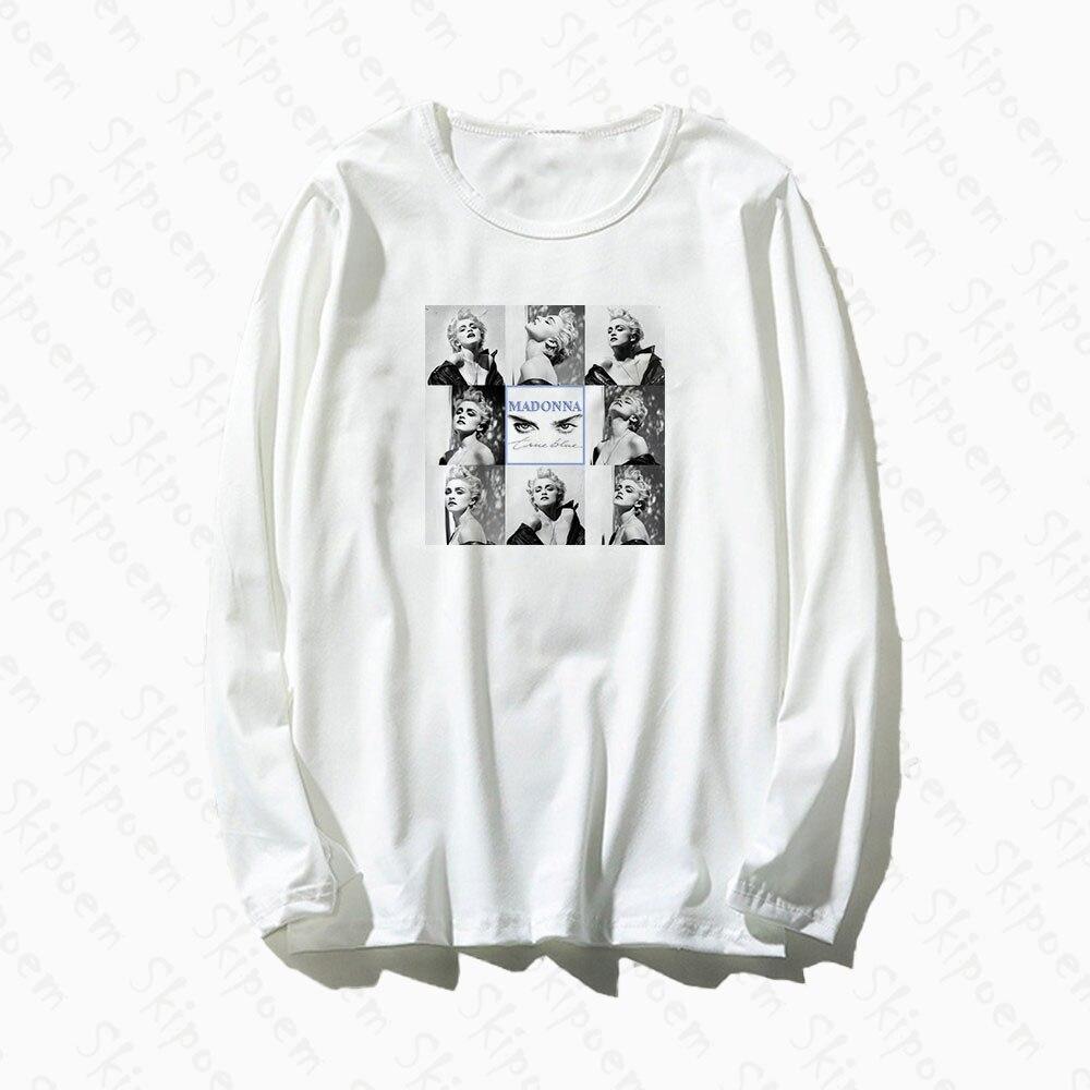 Sexy Goddess Madonna T Shirt Women Tumblr Punk Vintage Aesthetic Harajuku Cotton Long Sleeve Plus Size Top Tees Tee Shirt Femme