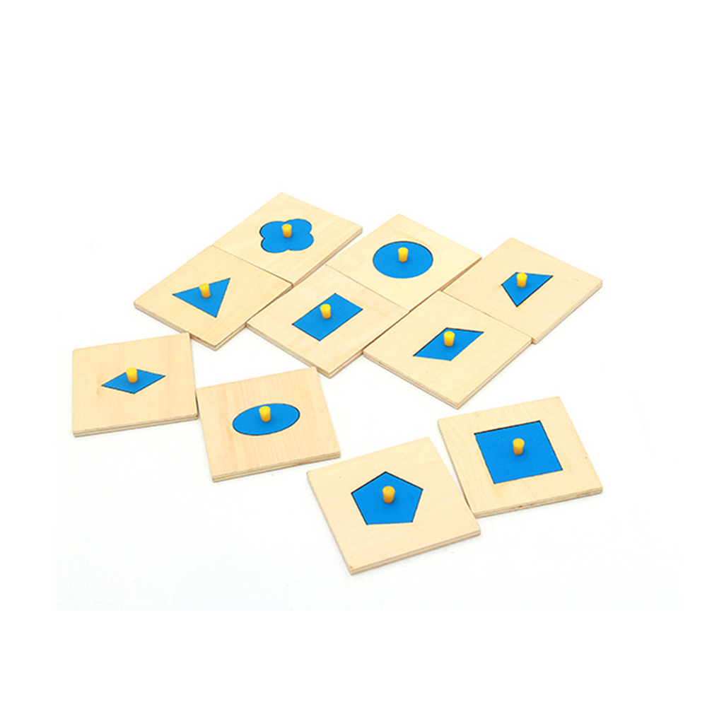 10 Pcs WoodenEducation Toy Montessori Shapes Sorting Puzzle Geometry Board Education Preschool Kids Children Geometric Board