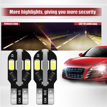 цена на 2x Canbus Error Free T10 White 5730 8SMD LED Car Side Wedge Light Lamp W5W Bulb 12V reading Parking light Instrument Panel Lamp