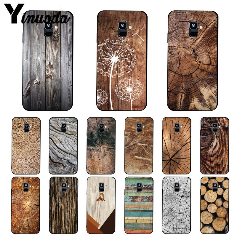 Yinuoda Pattern <font><b>wood</b></font> textures Fox Dandelion Mandala Phone <font><b>Case</b></font> For <font><b>Samsung</b></font> <font><b>Galaxy</b></font> A7 A50 A70 <font><b>A40</b></font> A20 A30 A8 A6 A8 Plus A9 2018 image