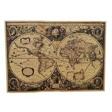 1 pçs inglês poster decoração do vintage estudante escola estilística ensino geografia atlas ficção científica filme tesouro mapa