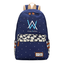 Alan Walker Faded DJ Bag Backpack Point Floral School Flower Teenagers Student Book Travel Laptop Girl Mochila